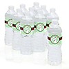 Mommy Silhouette It's A Baby - Personalized Baby Shower Water Bottle Label Favors