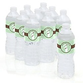 Mommy Silhouette It's A Baby - Personalized Baby Shower Water Bottle Sticker Labels - Set of 10