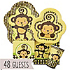 Monkey Neutral - Baby Shower 48 Big Dot Bundle