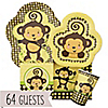 Monkey Neutral - Baby Shower 64 Big Dot Bundle