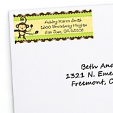 Monkey Neutral - Personalized Baby Shower Return Address Labels - 30 Count