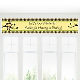 Monkey Neutral - Personalized Baby Shower Banner