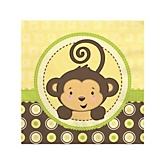 Monkey Neutral - Baby Shower Beverage Napkins - 16 Pack