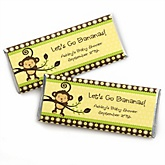 Monkey Neutral - Personalized Baby Shower Candy Bar Wrapper
