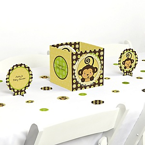 Monkey Neutral - Baby Shower Centerpiece & Table Decoration Kit