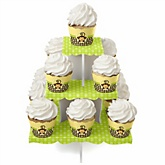 Monkey Neutral - Baby Shower Cupcake Stand & 13 Cupcake Wrappers
