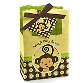 Monkey Neutral - Personalized Baby Shower Favor Boxes