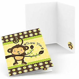 Monkey Neutral - Baby Shower Thank You Cards - 8 ct