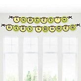 Monkey Neutral - Personalized Baby Shower Garland Banner