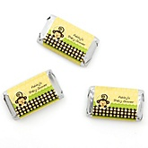 Monkey Neutral - Personalized Baby Shower Mini Candy Bar Wrapper Favors - 20 Count