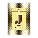 Monkey Neutral - Personalized Baby Shower Poster Gifts