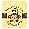 Monkey Neutral - Personalized Baby Shower Tags - 20 ct