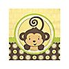 Monkey Neutral - Birthday Party Beverage Napkins - 16 ct