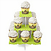 Monkey Neutral - Birthday Party Cupcake Stand and 13 Cupcake Wrappers