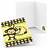 Monkey Neutral - Birthday Party Thank You Cards - 8 ct