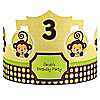 Monkey Neutral - Personalized Birthday Party Hats - 8 ct