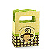 Monkey Neutral - Personalized Birthday Party Mini Favor Boxes