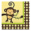 Monkey Neutral - Birthday Party Luncheon Napkins - 16 ct
