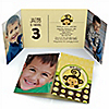 Monkey Neutral - Personalized Birthday Party Photo Invitations