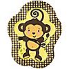 Monkey Neutral - Birthday Party Dinner Plates - 8 ct