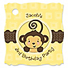 Monkey Neutral - Personalized Birthday Party Tags - 20 ct
