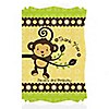 Monkey Neutral - Personalized Birthday Party Thank You Cards