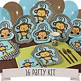 Monkey Boy - 16 Person Baby Shower Kit