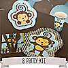 Monkey Boy - 8 Person Baby Shower Party Kit