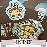 Monkey Boy - 8 Person Baby Shower Kit