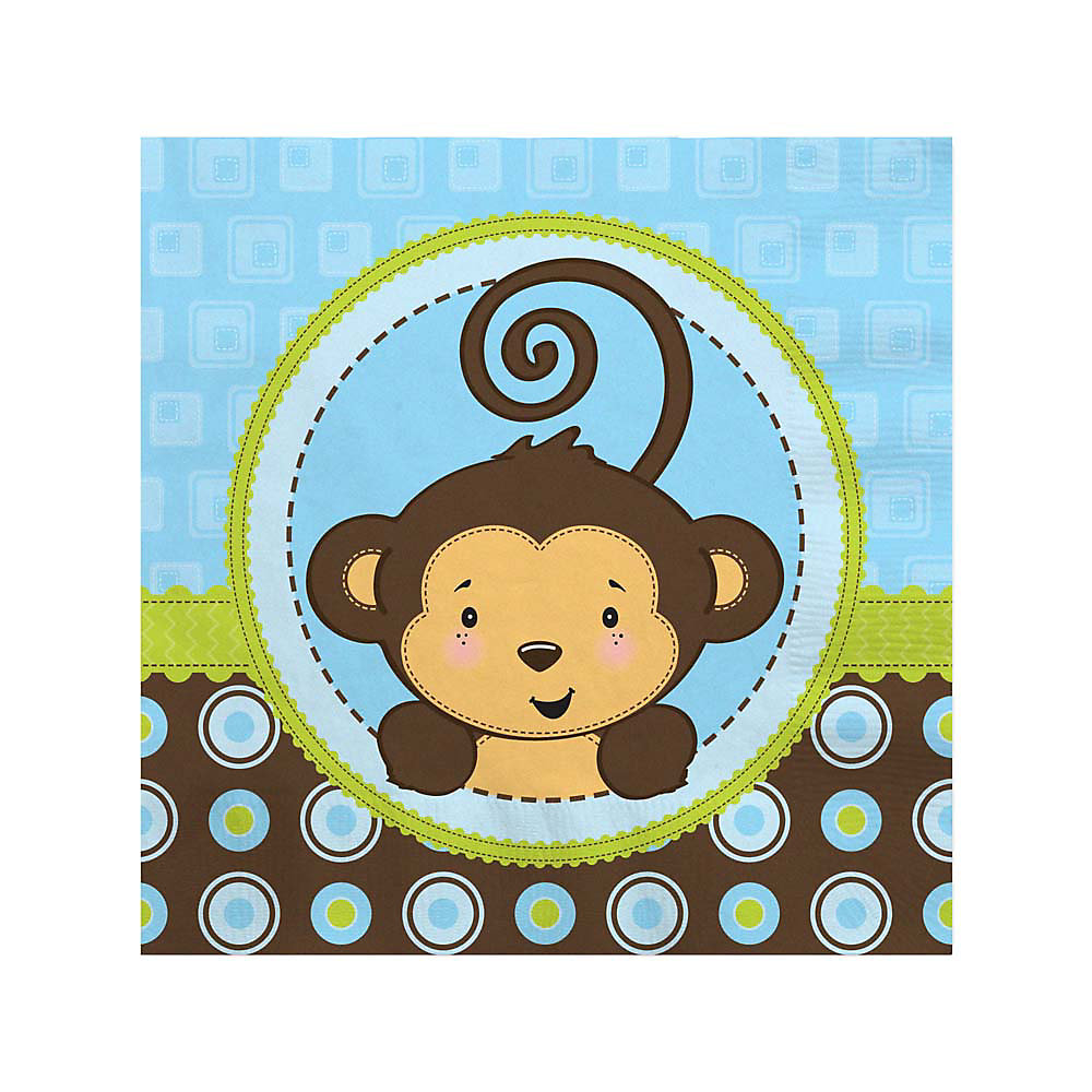 Monkey Boy   Baby Shower Beverage Napkins   16 Ct