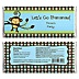 Monkey Boy - Personalized Baby Shower Candy Bar Wrapper Favors