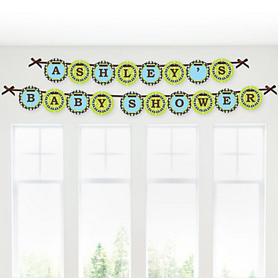 boy personalized baby shower garland banners