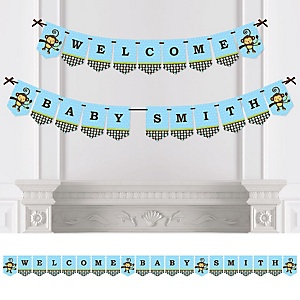 Monkey Boy - Personalized Party Bunting Banner