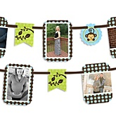 Blue Monkey Boy - Baby Shower Photo Garland Banners