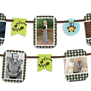 Monkey Boy - Baby Shower Photo Garland Banners
