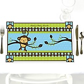 Monkey Boy - Personalized Baby Shower Placemats