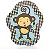 Monkey Boy - Baby Shower Dinner Plates - 8 ct