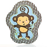 Monkey Boy - Baby Shower Dinner Plates - 8 Pack