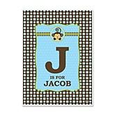Monkey Boy - Personalized Baby Shower Poster Gifts