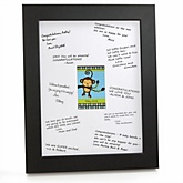Monkey Boy - Personalized Baby Shower Print with Signature Mat