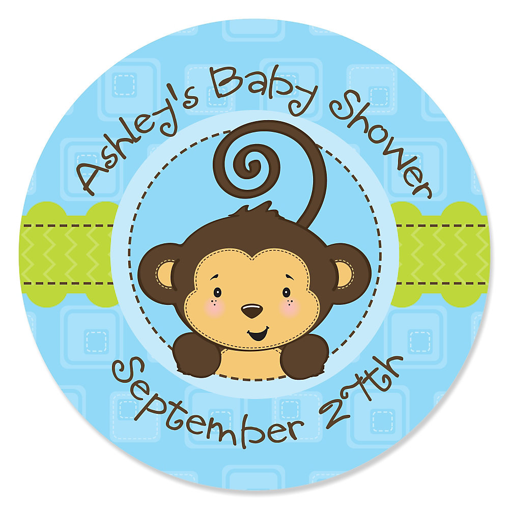 Baby Shower Boy Monkey ~ Baby monkey stickers images