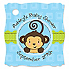 Monkey Boy - Personalized Baby Shower Tags - 20 ct