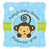 Monkey Boy - Personalized Baby Shower Tags - 20 Count