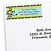Monkey Boy - Personalized Birthday Party Return Address Labels - 30 ct