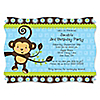 Monkey Boy - Personalized Birthday Party Invitations