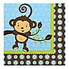 Monkey Boy - Birthday Party Luncheon Napkins - 16 ct