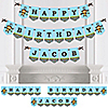 Blue Monkey Boy - Personalized Birthday Party Bunting Banner & Decorations