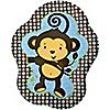 Blue Monkey Boy - Birthday Party Dinner Plates - 8 ct