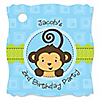 Monkey Boy - Personalized Birthday Party Tags - 20 ct