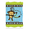 Monkey Boy - Personalized Birthday Party Thank You Cards